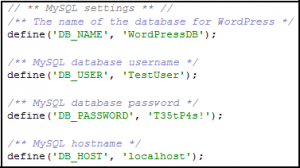 wp-config-wordpress