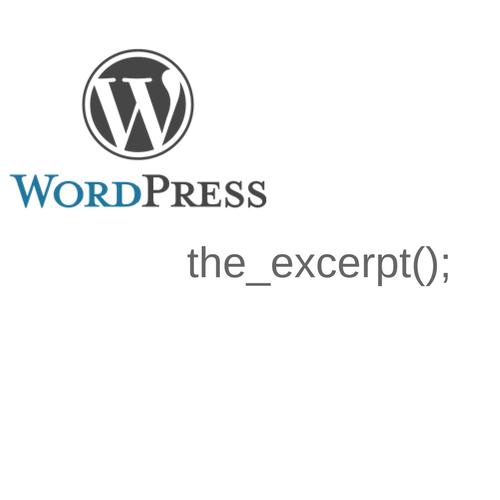 the_excerpt - вывод анонса в wordpress